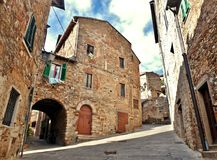 Campiglia Marittima, an ancient village in Tuscany Italy Stock Images