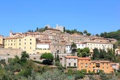 Campiglia Marittima en haar ruïnes, Italië Stock Foto
