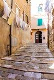 Campiglia Marittima est un comune en Toscane Image stock