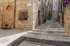 Campiglia Marittima ist ein comune (Stadtbezirk) auf den Italiener bezüglich lizenzfreies stockbild