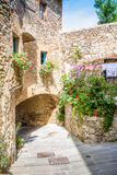 Campiglia Marittima ist ein comune (Stadtbezirk) in Toskana lizenzfreie stockfotos