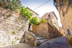 Campiglia Marittima jest comune w Tuscany obraz royalty free