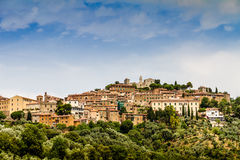 Campiglia Marittima is an old village in Tuscany, Italy Royalty Free Stock Photos