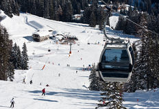campiglio di madonna手段滑雪 免版税库存图片