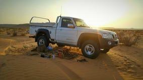 Campin in deserti saudita Fotografia Stock