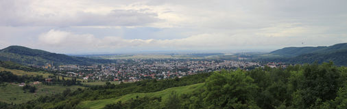 Campina Romania. Panoramic view of the city of Campina seen from Cornu Stock Images
