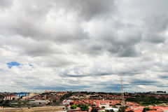 Campinas, Brazil. Clouds over Campinas suburb area, Brazil Stock Photo