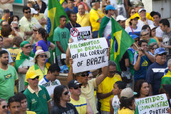 Anti-government protests in Brazil Royalty Free Stock Image
