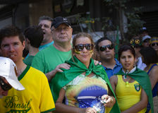 Campinas, Brazil - August 16, 2015: anti-government protests in Brazil, asking for Dilma Roussef's impeachment Stock Photos