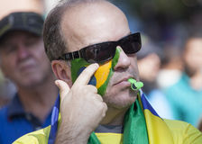 Anti-government protests in Brazil Royalty Free Stock Images