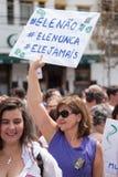 Campinas, São Paulo, Brésil - 29 septembre 2018 Femmes de jour national contre Jair Bolsonaro image libre de droits