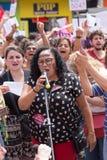 Campinas, São Paulo, Brésil - 29 septembre 2018 Femmes de jour national contre Jair Bolsonaro photographie stock libre de droits