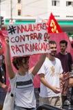 Campinas, São Paulo, Brésil - 29 septembre 2018 Femmes de jour national contre le politicien d'extrême droite Jair Bolsonaro images libres de droits