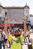 Campinas, São Paulo, Brésil - 29 septembre 2018 Mouvement de #elenão de NotHim Jour national des protestations contre Jair Bols image libre de droits