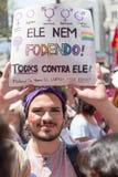 Campinas, São Paulo, Brésil - 29 septembre 2018 Mouvement de #elenão de NotHim Jour national des protestations contre Jair Bols photo stock