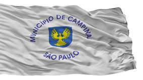 Campinas-Stadt-Flagge, Brasilien, lokalisiert auf weißem Hintergrund vektor abbildung
