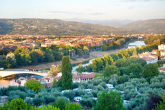 Camping à Florence Photo libre de droits