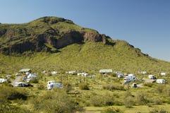 Camping 1 del desierto fotografía de archivo