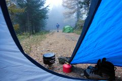 camping stock foto's