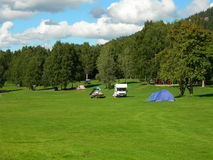 Camping. Bogstad Camping in Oslo in Norway Stock Images