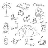 Camping. Vector illusrtation of Camping elements Royalty Free Stock Images