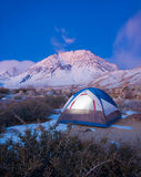 Camping. In the Mountains at Sunrise stock images