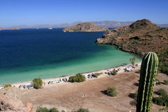 Camping. Beach near the town of Loreto in baja california sur, mexico Stock Photos