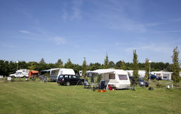 Camping. A dutch camping with blue sky Royalty Free Stock Images
