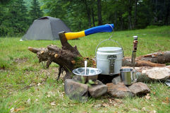 The camping Stock Photography