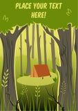 camping libre illustration