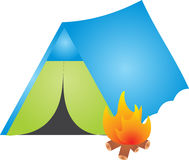 Camping. Illustration, isolated on a white background Royalty Free Stock Photography