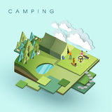 Camping activity Stock Images