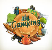 Camping adventure illustration Stock Photo