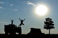 Camping agréable et aventureux photographie stock libre de droits