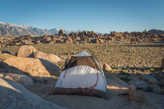 Camping in Alabama Hills Royalty Free Stock Photo
