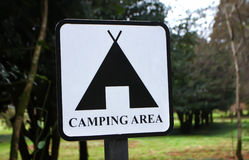 Camping Area Sign royalty free stock photo