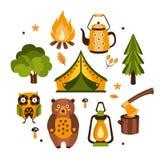Camping Associated Symbols Illustration Stock Photo