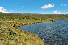 Camping au lac Ellis, le mont Kenya image stock