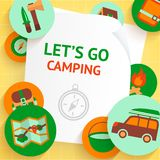 Camping background template Stock Images