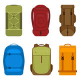 Camping backpacks vector icon vector illustration