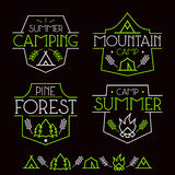 Camping badges and icons Stock Photos