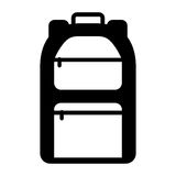 Camping bag travel icon Royalty Free Stock Image