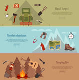 Camping banner set Royalty Free Stock Photos