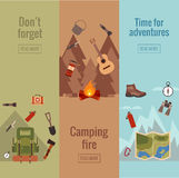 Camping banner set Stock Photography