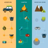 Camping Banners Vertical Royalty Free Stock Image