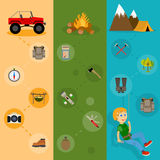 Camping banners vertical set Royalty Free Stock Photography