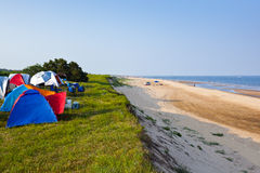 Camping at beach Royalty Free Stock Image