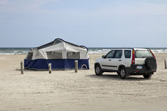 Camping at the Beach Royalty Free Stock Photo