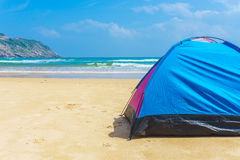 The camping at the beach Royalty Free Stock Photo