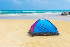 Camping at beach Royalty Free Stock Photography